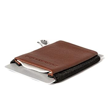 Cartera pequeña y fina - Space Wallet Classic - de piel, cuero, muchos colores: Amazon.es: Equipaje