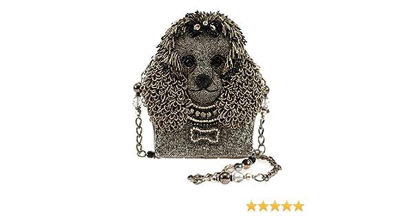 de9838d04 Amazon.com: MARY FRANCES Lulu Beaded Poodle Shoulder Handbag: Shoes