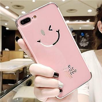 Etsue Funda iPhone 7,iPhone 8 Espejo Funda Silicona Flexible Suave TPU Carcasas Elegante Bling Glitter Brillante Brillo Sparkle Espejo Mirror Funda ...