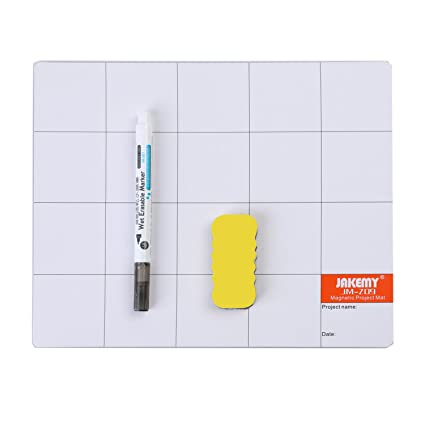 Magnetic Mat Prevent Small Screws Losing, Reusable Work Mat - Great for  Writing Note in Repair (9 8 x 7 9 inches)