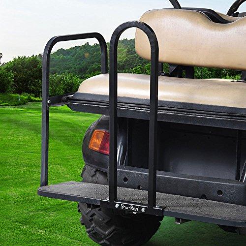 AW Golf Cart Rear Seat Safety Grab Bar Hand Rail Club Car EZGO Yamaha Universal Black by AW (Image #2)