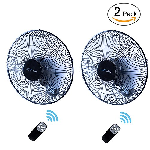 - Simple Deluxe HIFANXWALLDIGITX2 Wall Mount Fan, 16-Inch
