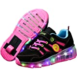 Ufatansy Kids Girls Boys Light Up Wheels Roller Shoes Skates Sneakers Trainers Gift