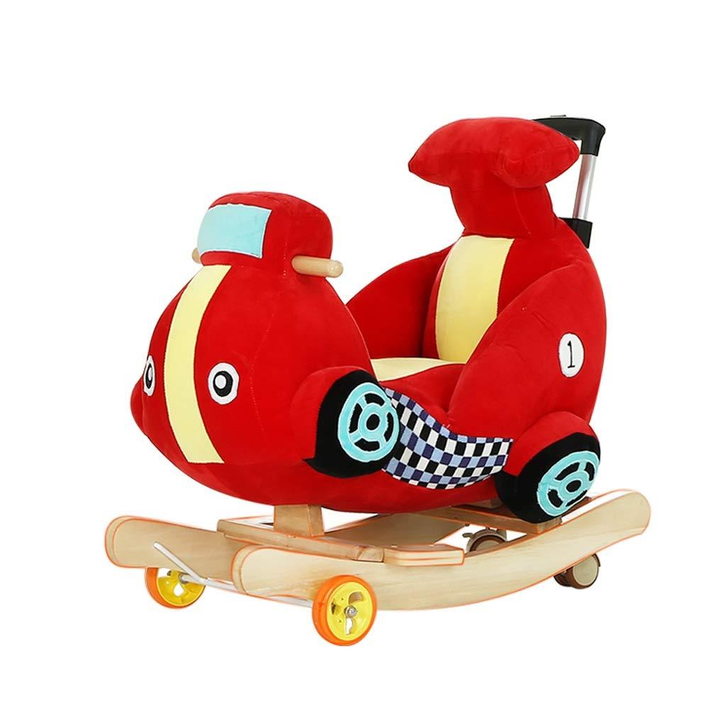 FJH Giocattolo per Bambini a Dondolo per Bambini Giocattolo per Bambini a Dondolo per Bambini in Legno Carrozzina per Bambini a Dondolo con Ruota Universale