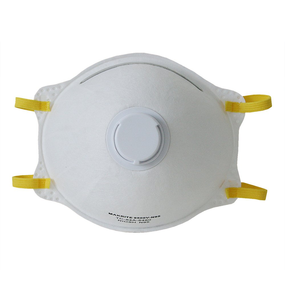 Makrite N95 Particulate Respirator Dust & Filter Safe Mask with Valve 10-Pack