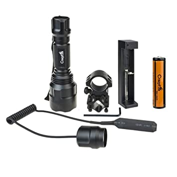 CrazyFire LED Tactical Flashlight 800 Lumen 1 Mode Tactical Lamp Torch For  Hunting Hiking Camping(