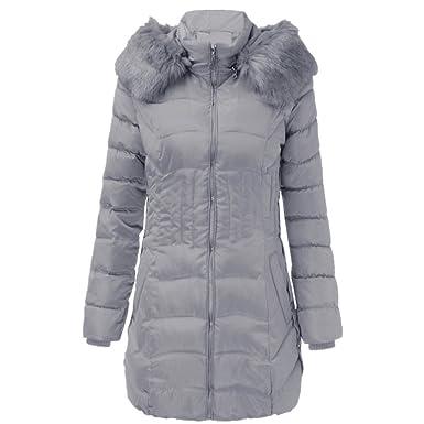 FNKDOR Abrigo de Mujer Sexy, Chaqueta Larga para Mujer de Invierno de Moda cálido Abrigo