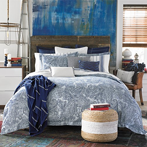 Tommy Hilfiger Canyon Paisley Comforter Set, Full/Queen, Indigo