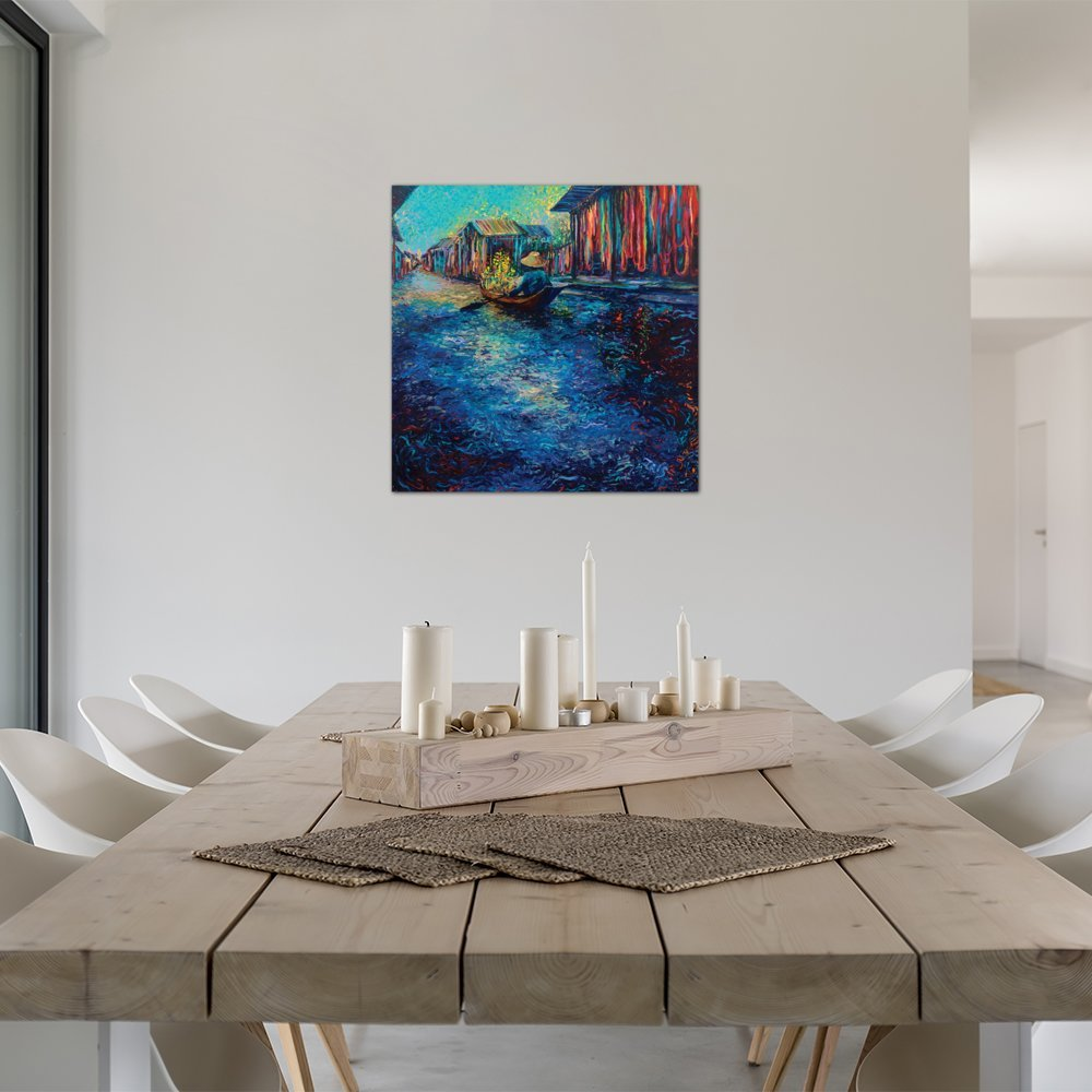 24 x 36 ArtWall 3 Piece Paul Cezannes LEstaque of The Bay of Marseilles Artmetalz Aluminum Print Set