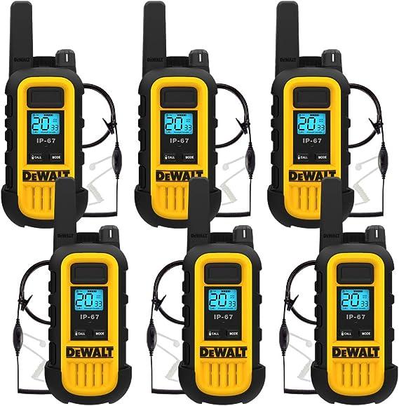 Long Range Walkie Talkie 2 Set 5 Mile Two Way Radio Charge Headset Waterproof