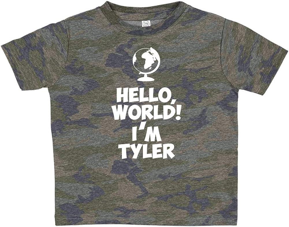 Im Tyler Personalized Name Toddler//Kids Short Sleeve T-Shirt World Mashed Clothing Hello