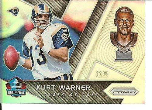 Football NFL 2017 Prizm Hall of Fame Prizm #5 Kurt Warner Rams by