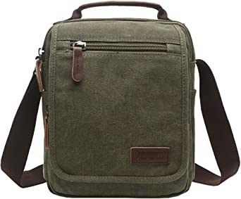 Mens Canvas Casual Shoulder Messenger School Satchel Hiking Bag Crossbody Bag