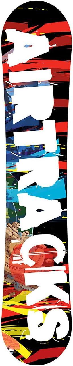Snowboard /Juego Completo//Tarjeta Graffiti Wide Flat Rocker Fijaciones Snowboard Star Botas Bag//155/159/163/cm AIRTRACKS/