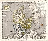 1872 School Atlas | 26. Danemark. (Denmark). Schleswig, Holstein und Lauenburg, Island u. Faer-Oer. (Iceland.) | Antique Vintage Map Reprint