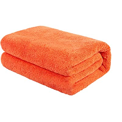 aokway Ultra Large Microfiber Towels for Cars -23.6 inch X 63 inch(Orange): Automotive