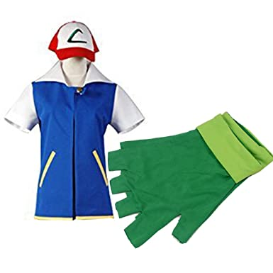 Cuterole Ash Ketchum Jacket With Hat Pokemon Ash Cosplay Costume Unisex Custom  sc 1 st  Amazon.com : pokemon costumes ash  - Germanpascual.Com
