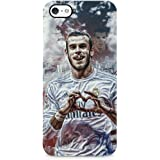 Gareth Bale Love Real Madrid Hard Plastic Snap Case Cover For iPhone 5 / iPhone 5s / iPhone SE Handy Schutzhülle