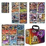 10 Jumbo Pokemon Cards in Collectors Chest Tin 1 Full Art Mega, 1 Mega EX, 3 GX and 5 EX