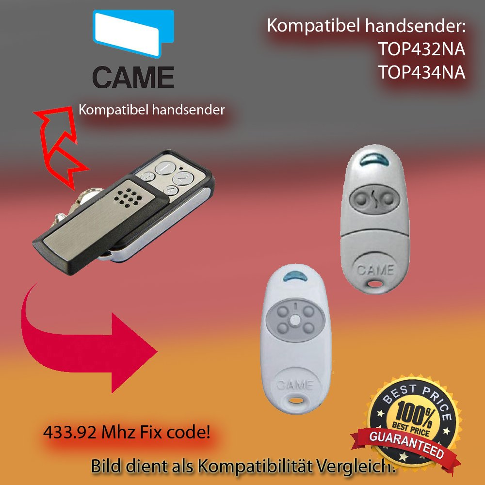 TOP434M Handsender ersatz Kompatibel mit model CAME TOP432M klone