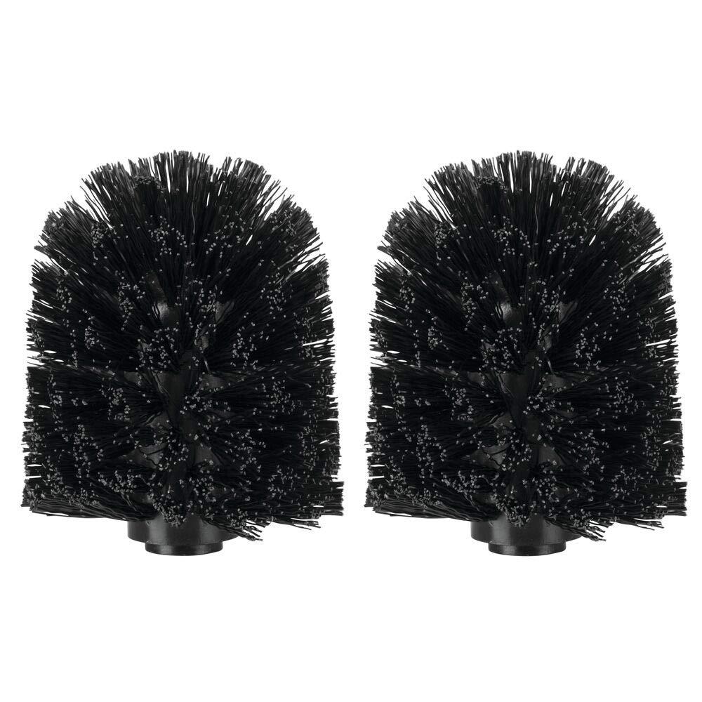 noir mDesign brosse wc de rechange en plastique t/ête de brosse toilette hygi/énique accessoire wc pratique lot de 2