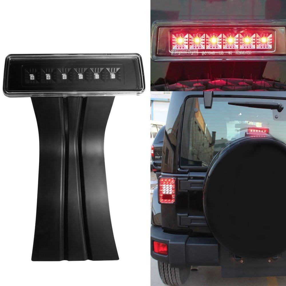 15 W Clear 6 LED terzo luce freno stop lampada posteriore della luce freno 3rd Fit 2007 –  2016 JK BEEAUTO