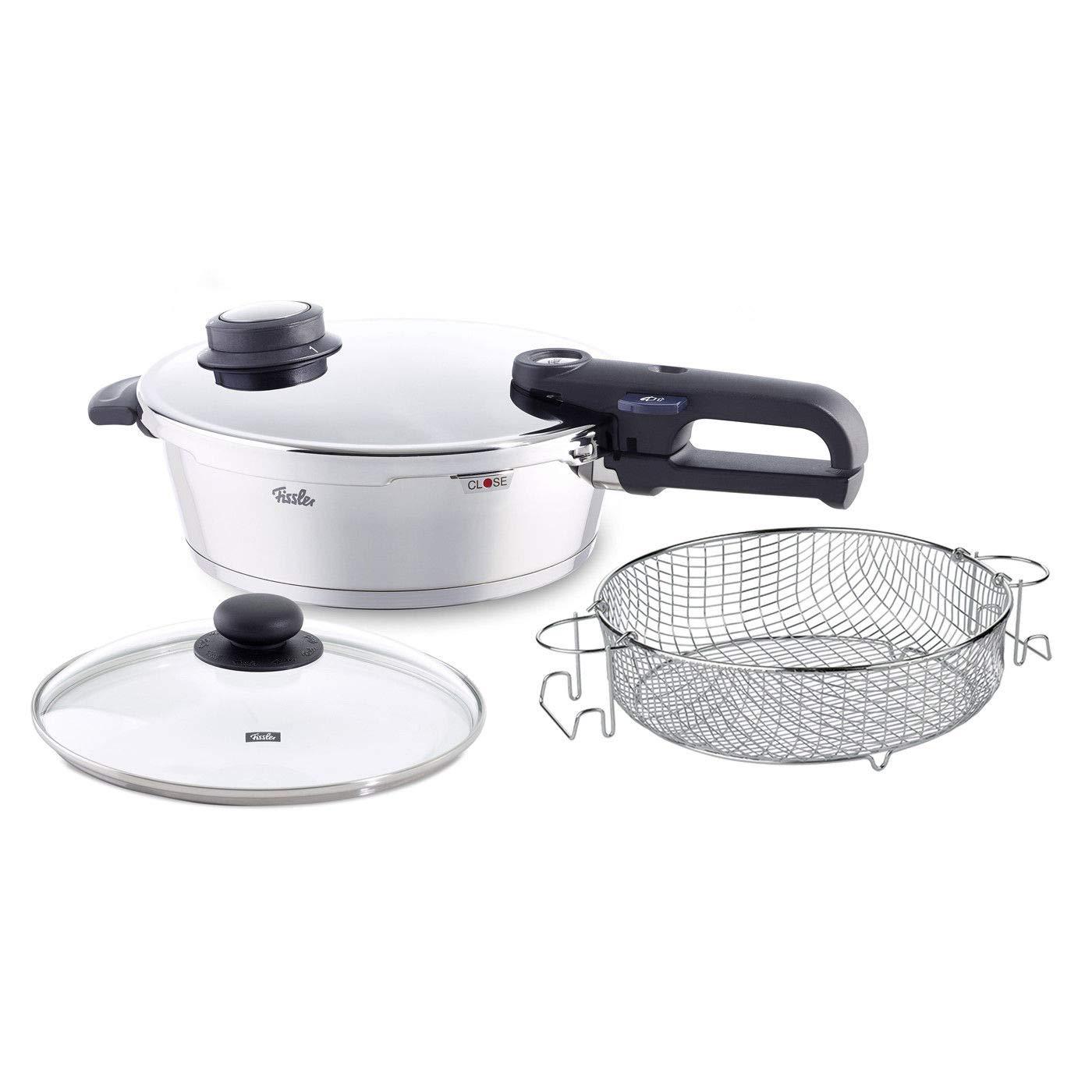 Fissler 4.2-Quart Vitavit Premium 4-Piece Pressure Cooker Set