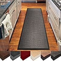 casa pura Sisal Rug | 100% Natural Fiber Area Rug | Non-Skid Eco-Friendly Throw Carpet for Entryway, Dining or Living Room | Various Colors and Sizes | Gray - 2.6 x 9