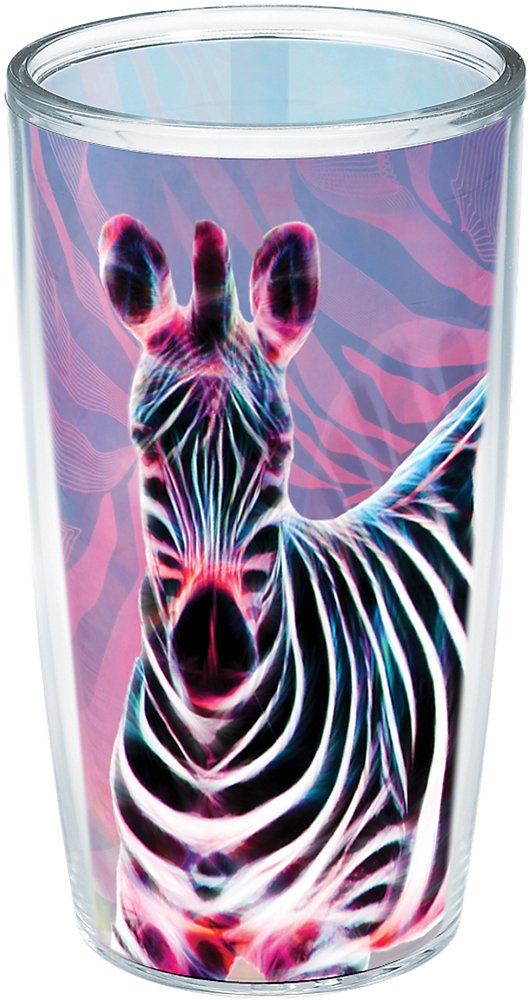 Tervis 1223035 Cool Zebra Insulated Tumbler With Wrap 16 oz Clear
