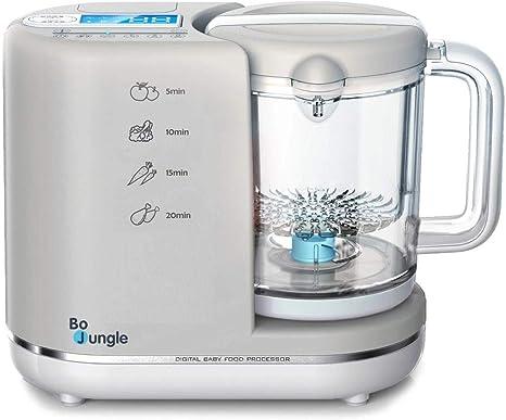 Bo Jungle 6 en 1 Baby Robot de cocina nahrungszu Émbolo Baby – Vaporera: Amazon.es: Bebé