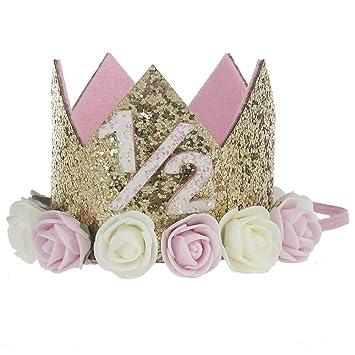 Bebé Princesa Crown Kids 1er Cumpleaños Sombrero Sparkle ...