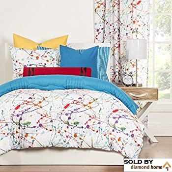 Crayola Crayon Paint Splash 2 Piece Comforter Set Twin Kids Teens Abstract Graphic