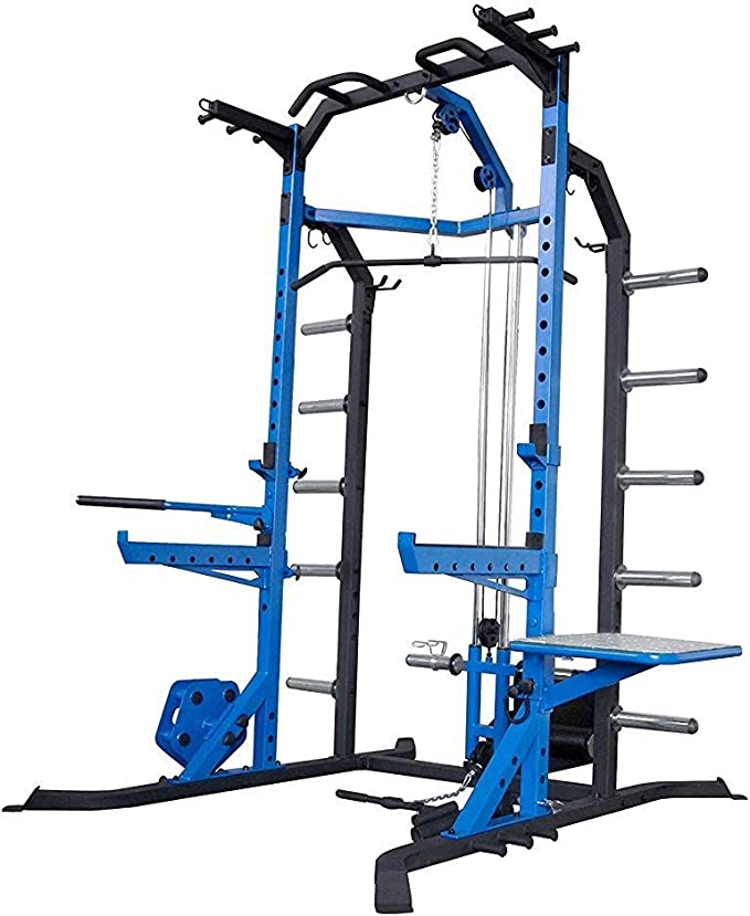 We R Sports® Power Rack Home Gym Crossfit Rack - Lat Pull Down -Pull Ups - Power Cage
