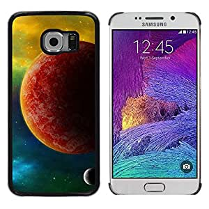 PC/Aluminum Funda Carcasa protectora para Samsung Galaxy S6 EDGE SM-G925 The Red Planet / JUSTGO PHONE PROTECTOR