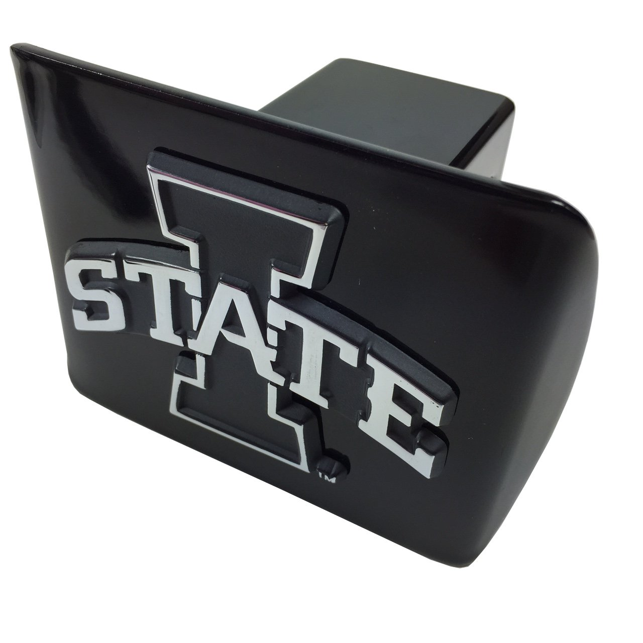 AMG Iowa State Metal Black Hitch Cover by AMG