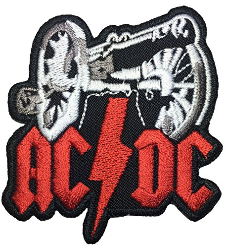 [AC/DC Band Music rock heavy Metal punk logo Jacket Vest shirt hat blanket backpack T shirt Patches Embroidered Appliques Symbol Badge Cloth Sign Costume Gift 6.5 x] (Zombie Skate Punk Costumes)