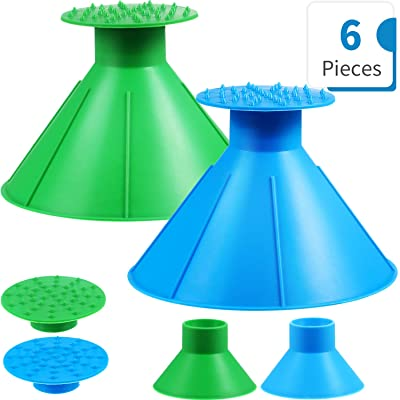 2 Sets Round Ice Scraper, Car Window Windshield Cone Shaped Shovel Tool 2 Size Funnel Scraper with Ice Breakers for Car Supplies, Blue and Green: Automotive
