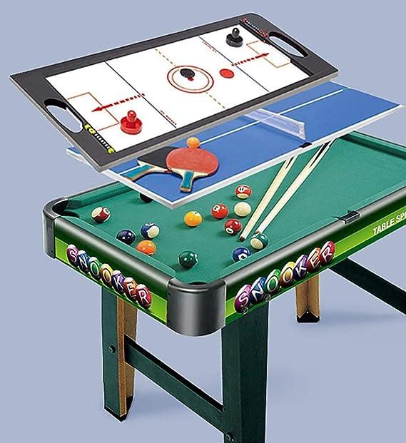 3 en 1-2.5 Ft Mesa de Billar Verde + Air Hockey + Tenis Tenis de Mesa Juguetes para niños Niños y Familia Home Office Playing Uptodate: Amazon.es: Deportes y aire libre