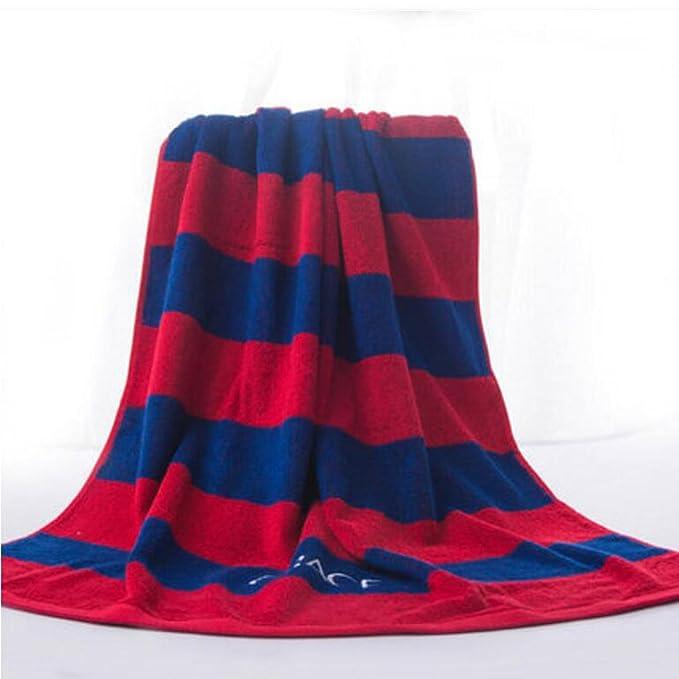 Wddwarmhome Toallas de baño rayadas azules Toallas de algodón absorbentes Parasitas de hombre y mujeres toallas 2: Amazon.es: Hogar