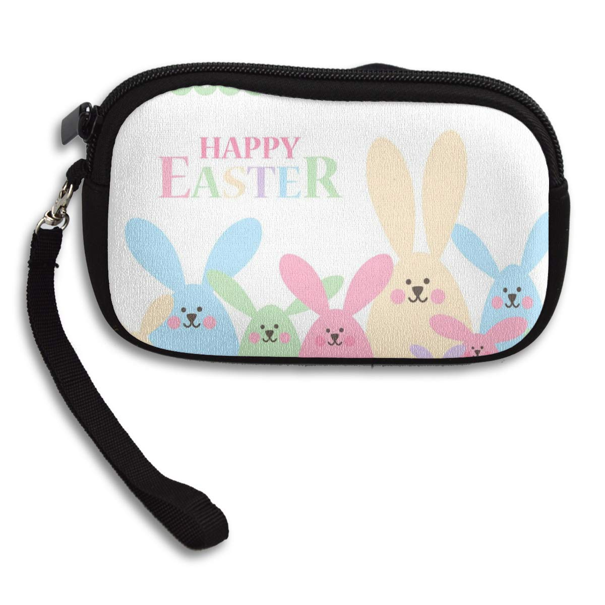 Cute Kids Gift Card Wallet Pink Zipper Coin Pouch BUNNY Coin Purse Change Wallet Rabbits  Bunnies Zipper Bag
