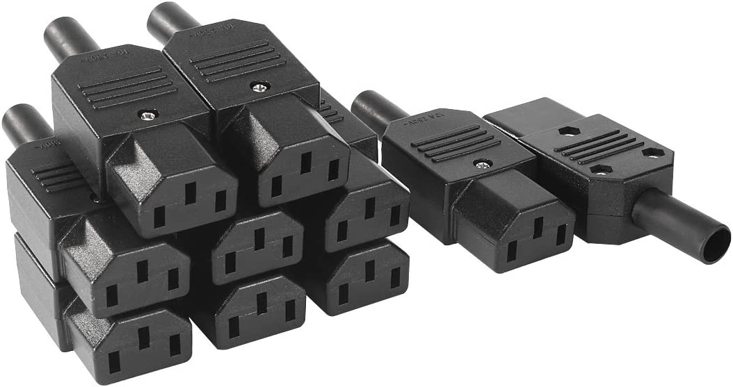 Black 3pin Socket 10A //250V IEC 320 C13 Female Plug Rewirable Power Connector H$