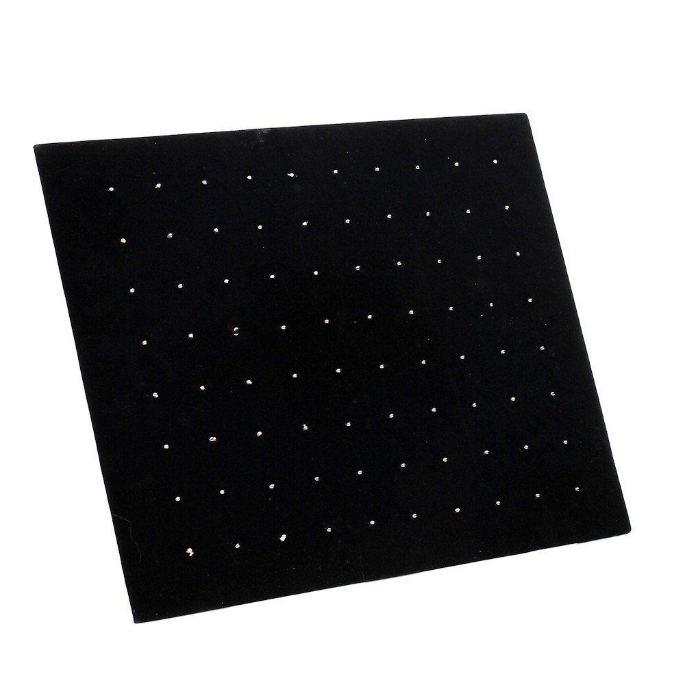 /negro 25/x 30/cm /Bandeja plegable para piercings Bandeja o puerta joyas/ terciopelo/ 80/piezas