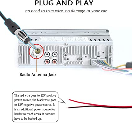 12V Universal Car Antenna Hidden Radio Amplifier Stereo FM//AM Receiver Aerial G