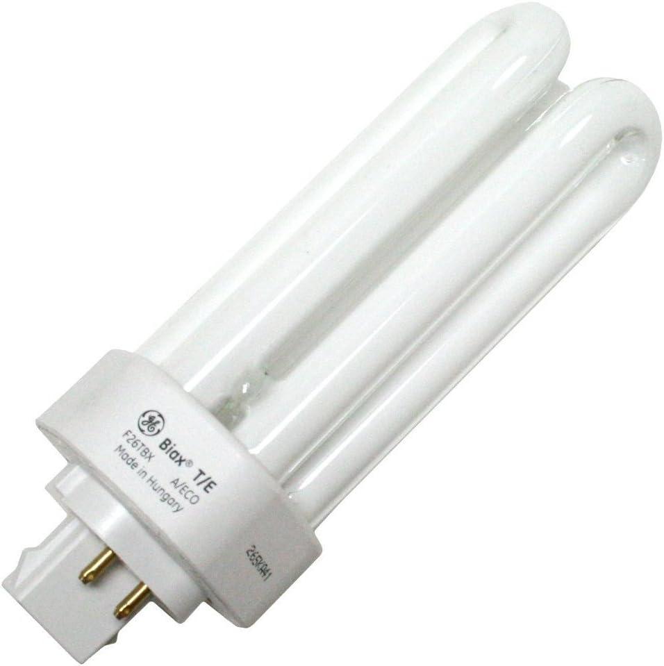 GE 97617 (10-Pack) F26TBX/841/A/ECO 26-Watt Ecolux Triple Tube Compact Fluorescent Light Bulb, 4100K, 1710 Lumens, T4 Shape, 82 CRI, 4-Pin GX24q-3 Base