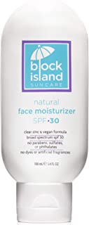 product image for Block Island Organics - Natural Face Moisturizer SPF 30 with Clear Zinc - Broad Spectrum UVA UVB Protection - Daily Anti-Aging Sunscreen Sunblock - EWG Top Rated - Non-Toxic - Made in USA - 3.4 FL OZ