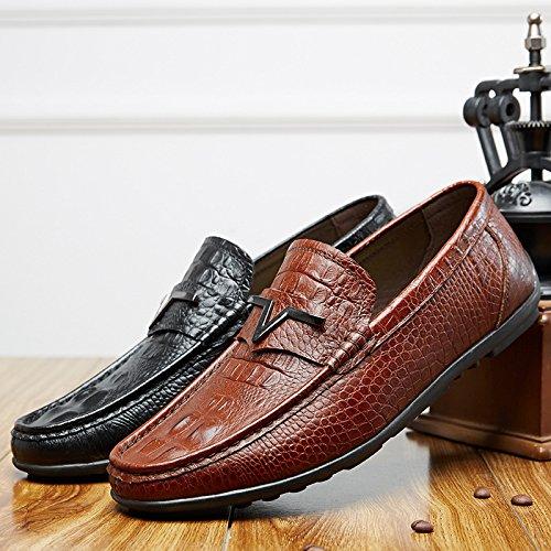 Oxfords Elegante Fiesta Para de Mocasines Zapatos Negocio A837 Hombre SPEEDEVE Vestido Para Cuero marrón Formal Boda nqYHfnwX