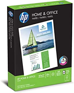 HP Printer Paper 8.5x11 Home & Office 20 lb 1 Ream 300 Sheets 92 Bright Made in USA FSC Certified Copy Paper HP Compatible 200300R
