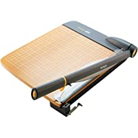"""Westcott ACM15108 TrimAir Titanium Wood Guillotine Paper Trimmer with Anti-Microbial Protection, 18"""""""