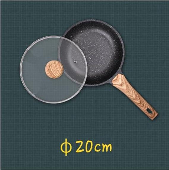 Zzh Sartén De Sartén Antiadherente Sin Sartén De Aceite De Aceite,2,Diameter20cm: Amazon.es: Hogar