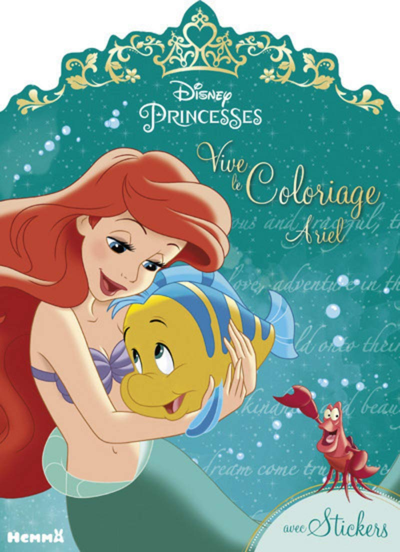 Disney Princesses Vive Le Coloriage Ariel Amazon Fr Disney Livres